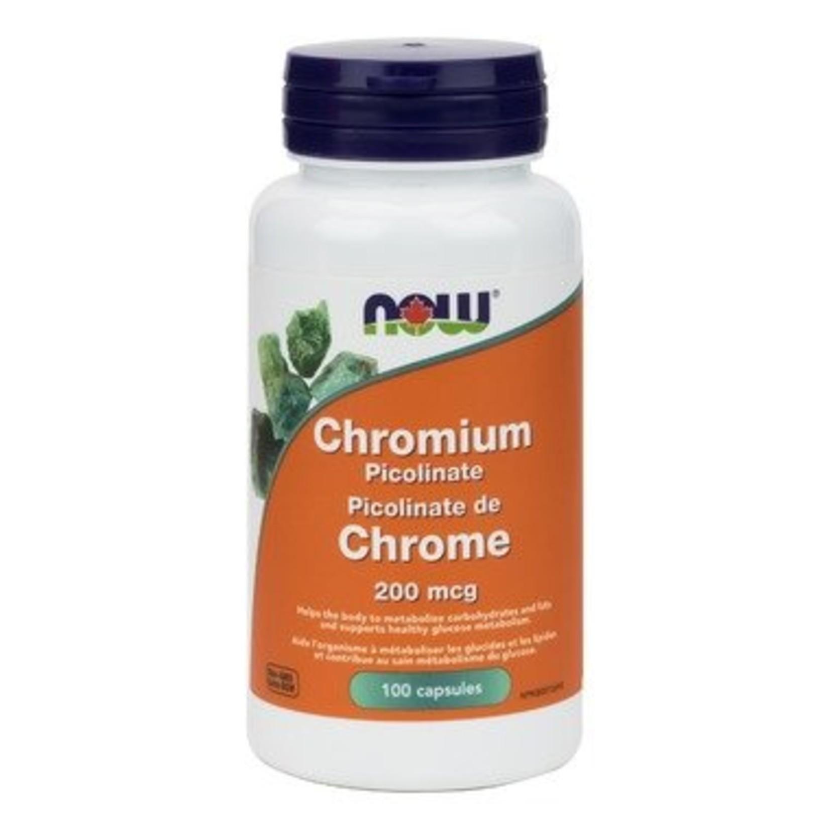 NOW NOW Chromium Picolinate 200mcg 100vcap