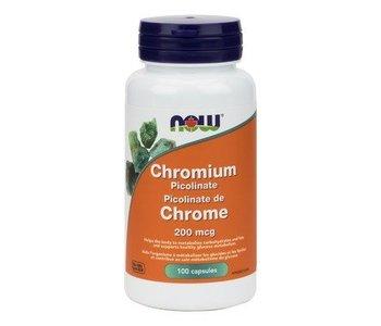 NOW Chromium Picolinate 200mcg 100vcap