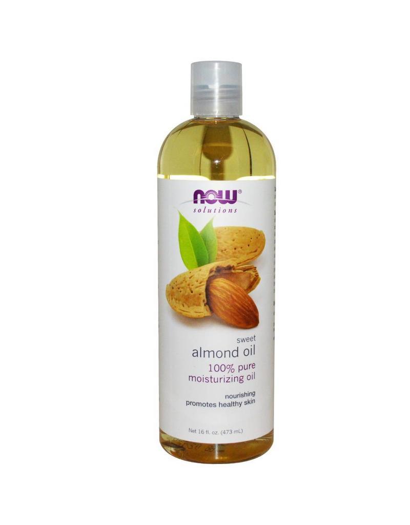 NOW NOW Almond Oil Sweet Expellerpressed 473mL