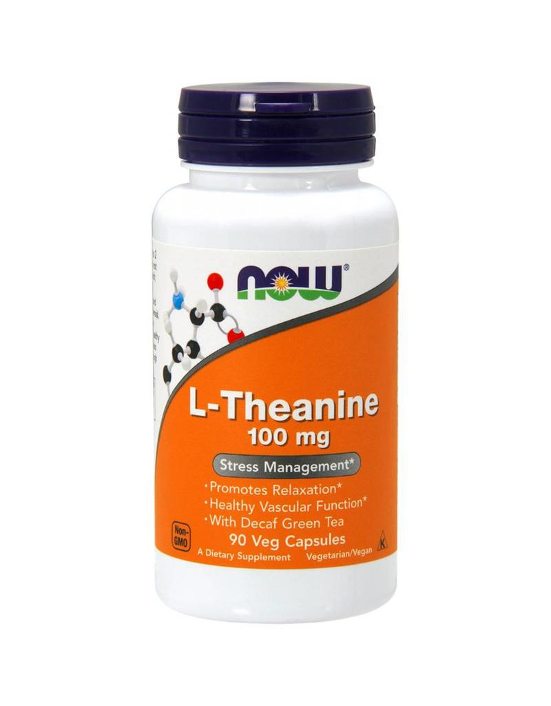 NOW NOW L-Theanine 100 mg 90vcap 3