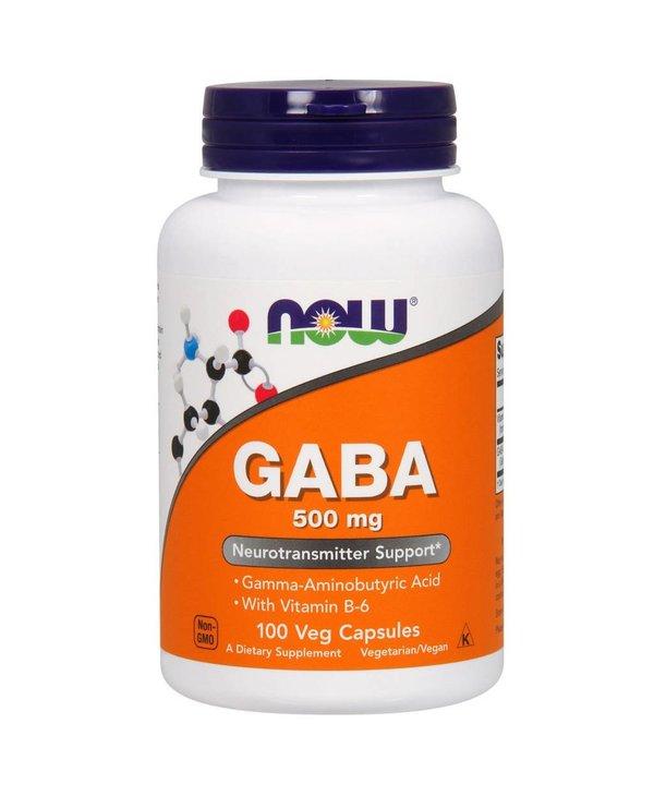 NOW GABA 500mg + B-6 100vcap