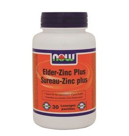 NOW NOW Elder-Zinc Plus Lozenges 30Loz