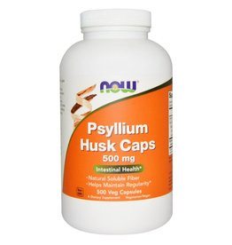 NOW NOW Psyllium Husk 500mg 500vcap