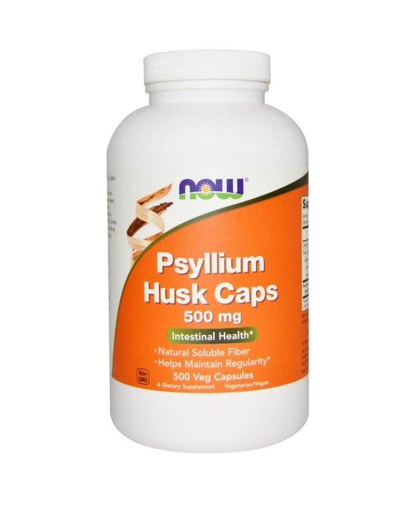 NOW Psyllium Husk 500mg 500vcap
