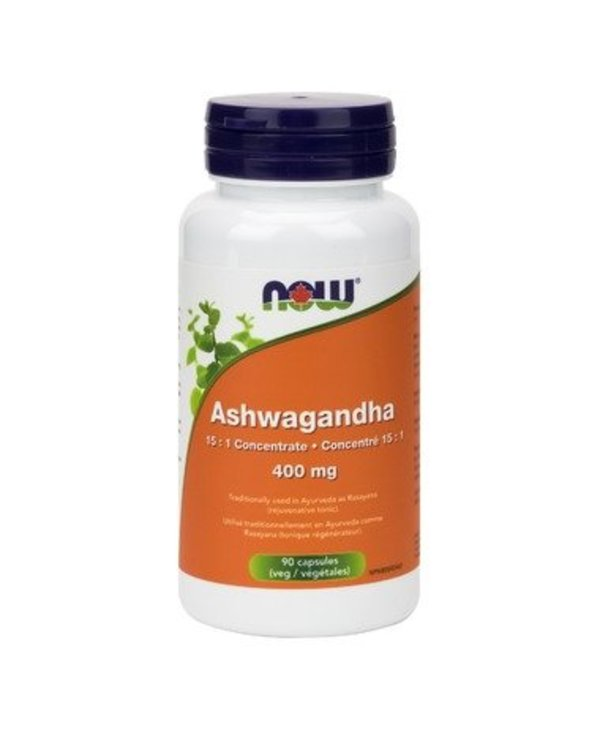 NOW Ashwagandha Ext 400mg 90vcap