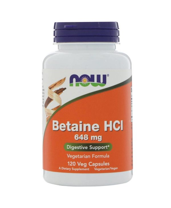 NOW Betaine HCL 10gr 120vcaps