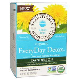 Traditional Medicinals Everyday Detox Dandelion Tea 16 tea bags