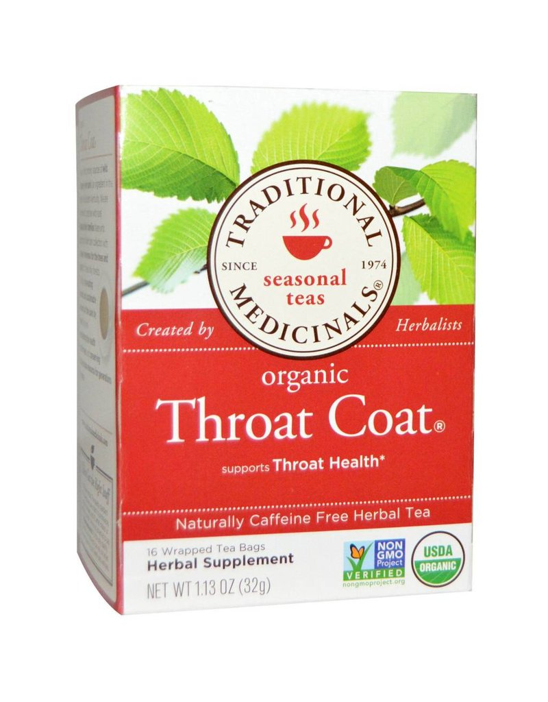 Traditional Medicinals Throat Coat 20 Tea Bags