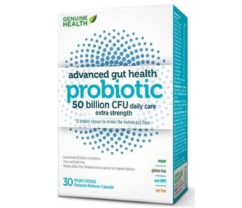 Genuine Health Advanced Gut Health Probiotic 50 billion 30 caps