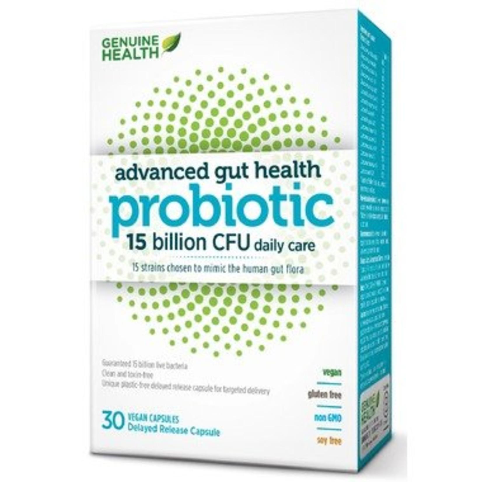 Genuine Health Genuine Health Advanced Gut Probiotic 15 billion 30 caps
