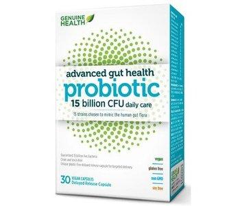 Genuine Health Advanced Gut Probiotic 15 billion 30 caps