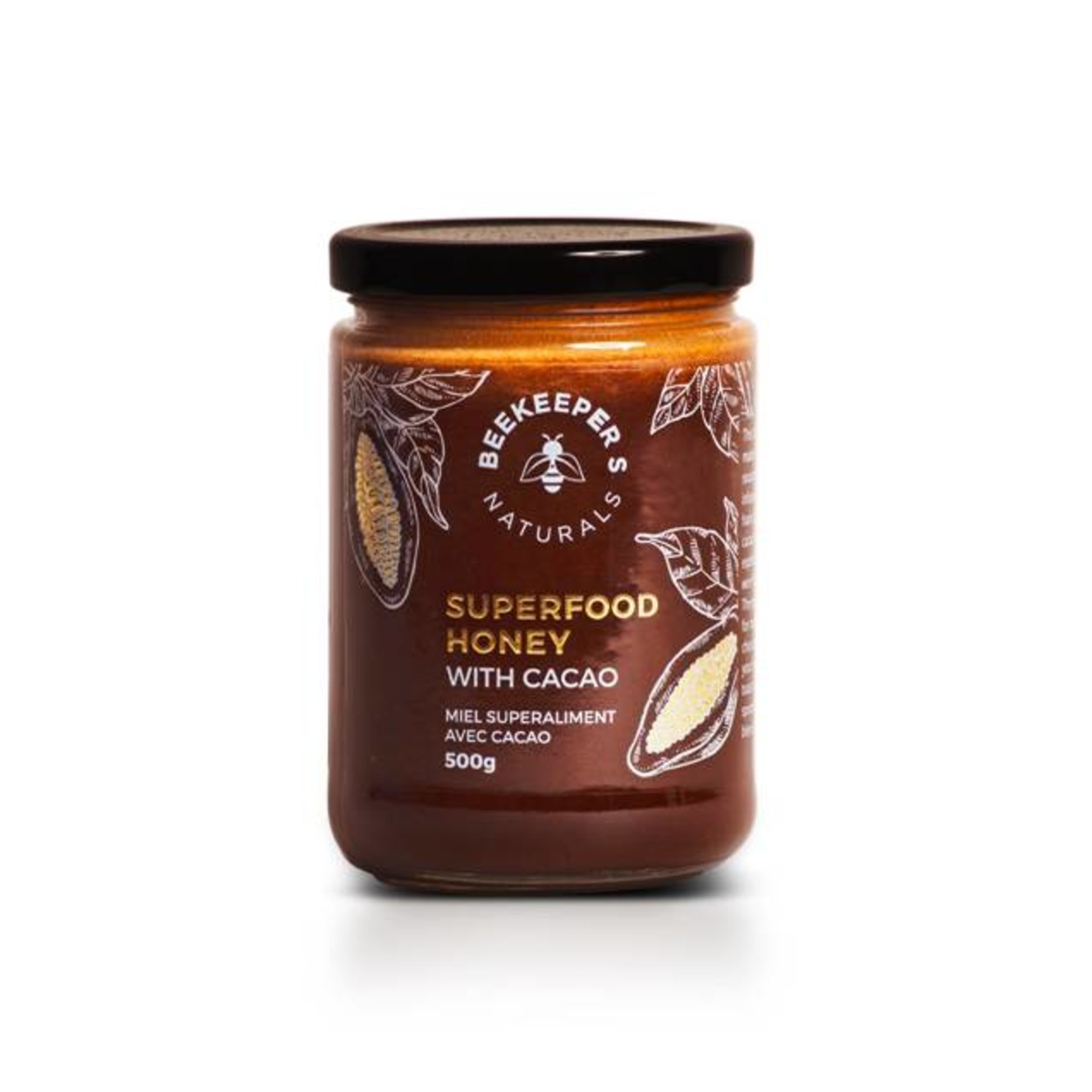 Beekeepers Naturals Beekeepers Naturals Superfood Cacao Honey 500g