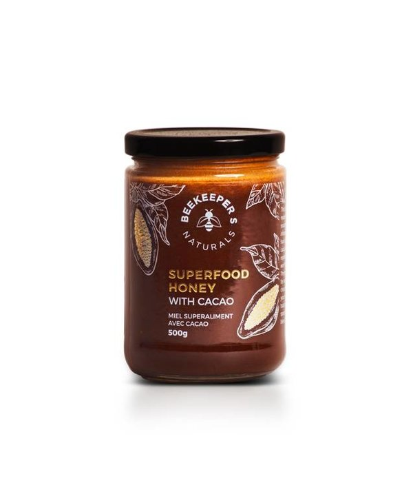 Beekeepers Naturals Superfood Cacao Honey 500g
