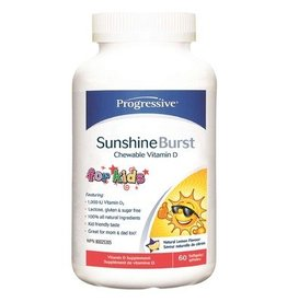 Progressive Sunshine Burst Chewable Vitamin D for Kids Lemon 60sgels