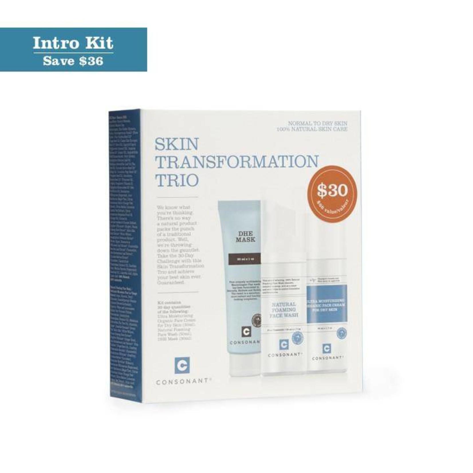 Consonant Skin Care Consonant Skin Transformation Trio- Normal to Dry Skin