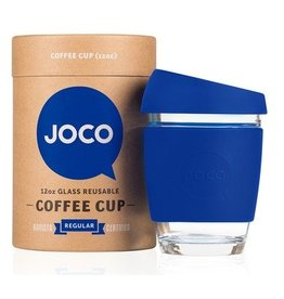 Joco Reusable Glass Cup Cobalt Blue