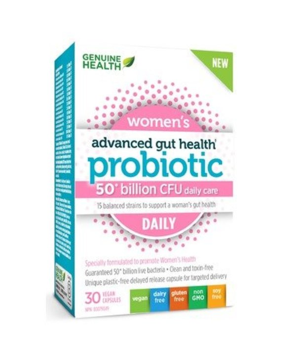 Genuine Health Advanced Gut Health - Probiotic Womens Daily 30 caps