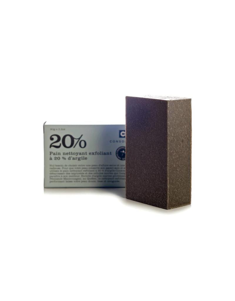 Consonant Skin Care 20% Clay Exfoliating Cleansing Bar 3.2oz