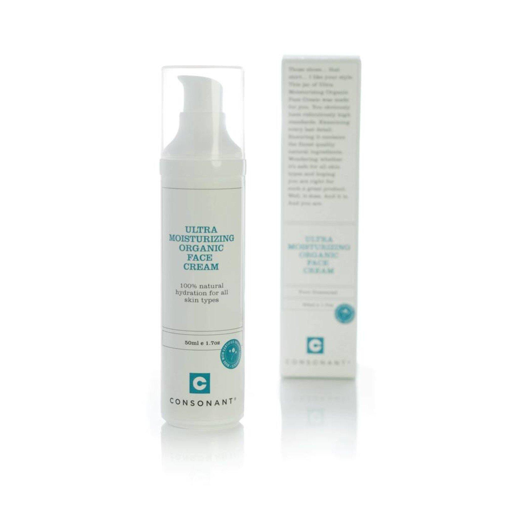 Consonant Skin Care Ultra Moisturizing Organic Face Cream 50ml
