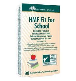 Genestra HMF Fit For School Probiotic Formula Blackcurrant30 chewables