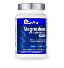 Can Prev Magnesium Bis-Glycinate 200 Gentle 120 v-caps