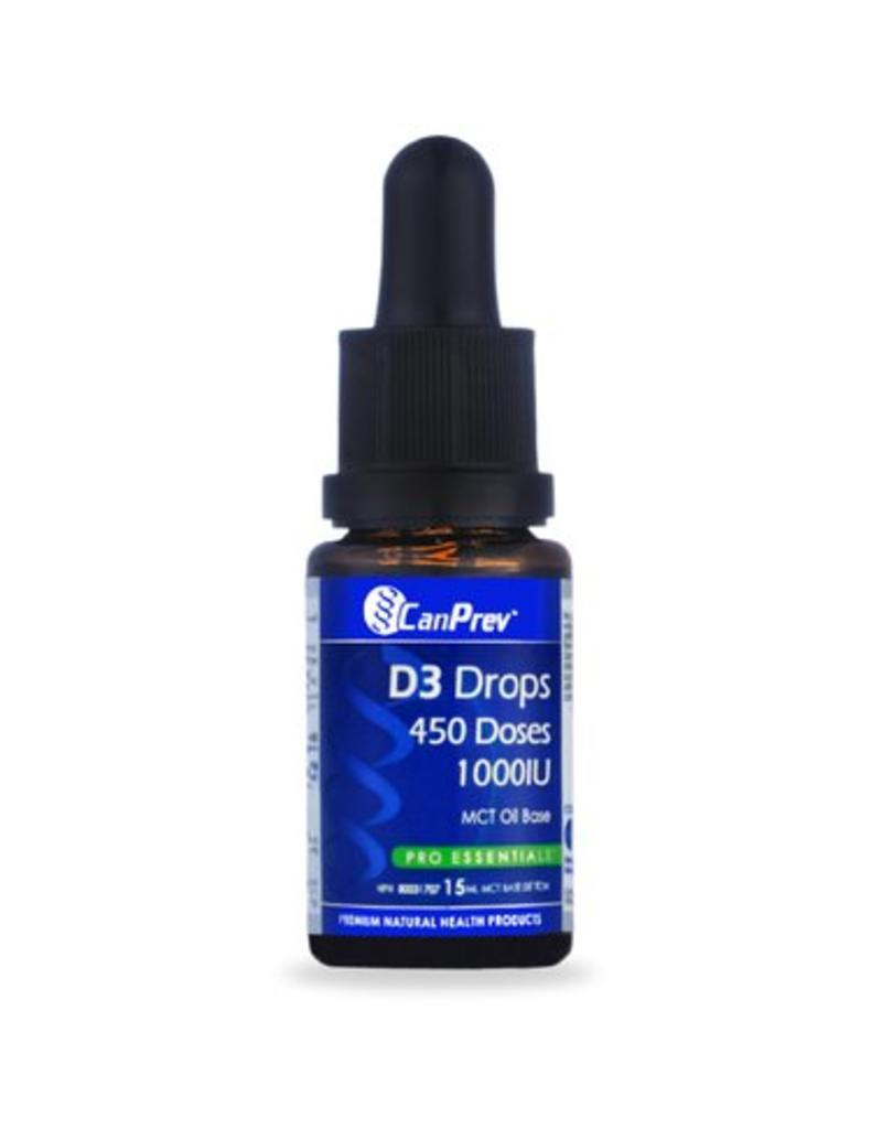 Can Prev Can Prev D3 Drops 1000IU- MCT base 15mL