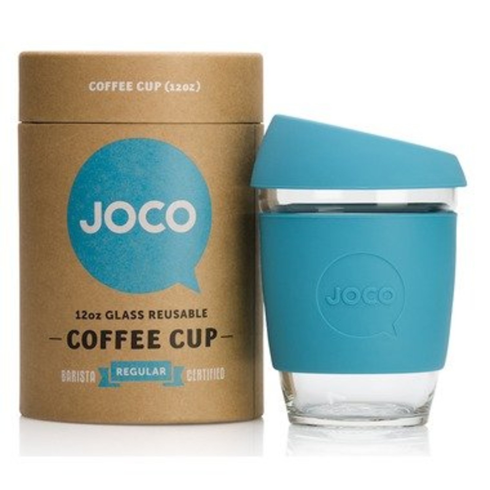 Joco Reusable Glass Cup Blue 12oz