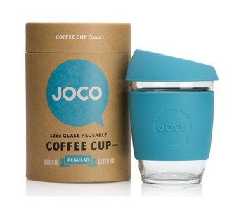 Reusable Glass Cup Blue