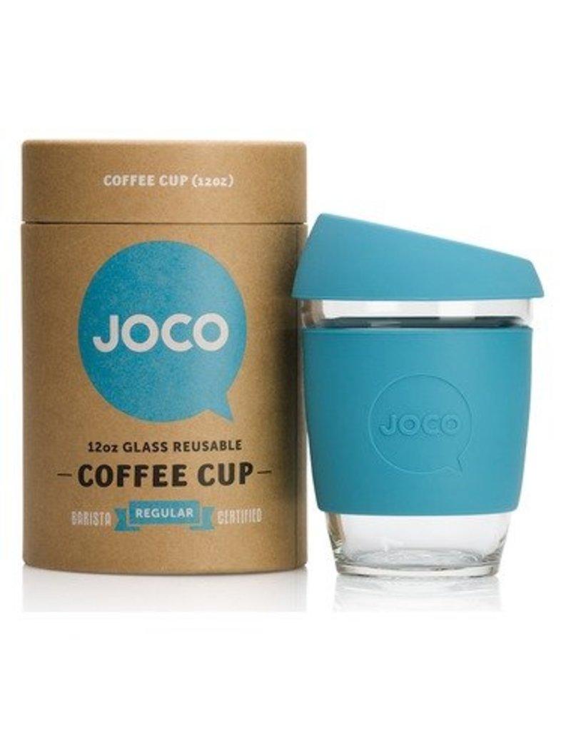 Joco Reusable Glass Cup Blue 12oz