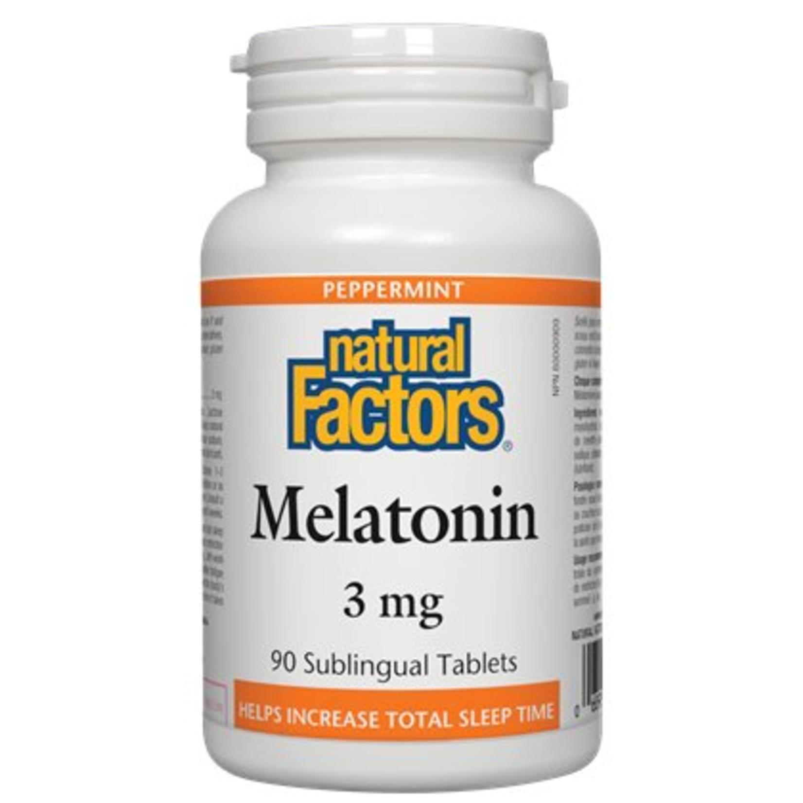 Natural Factors Natural Factors Melatonin 3mg Subling Tab 90