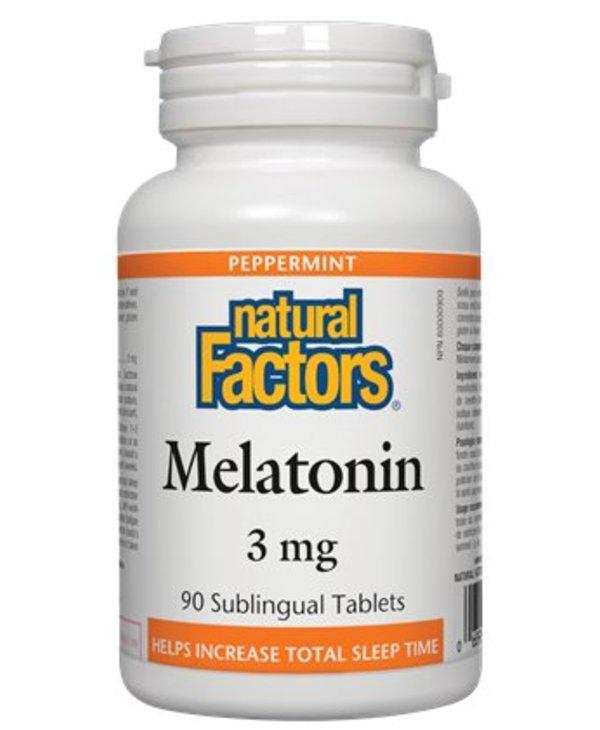 Natural Factors Melatonin 3mg Subling Tab 90