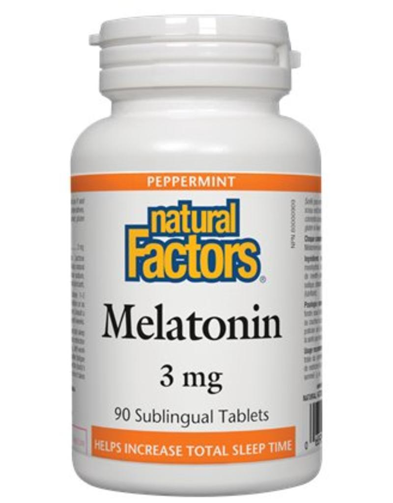 Natural Factors Natural Factors Melatonin 3mg Subling Tab 90