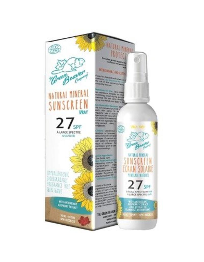 Green Beaver Green Beaver Natural Mineral Sunscreen SPF 27 90ml Spray