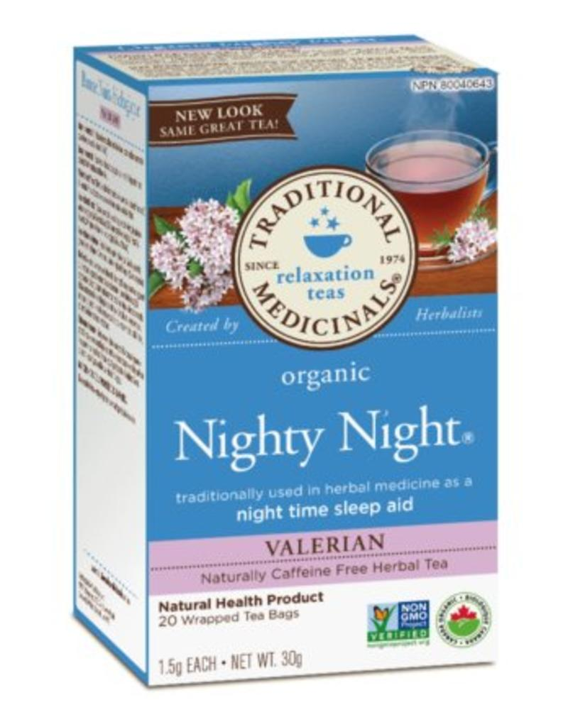 Traditional Medicinals Nighty Night Valerian 20 Tea Bags