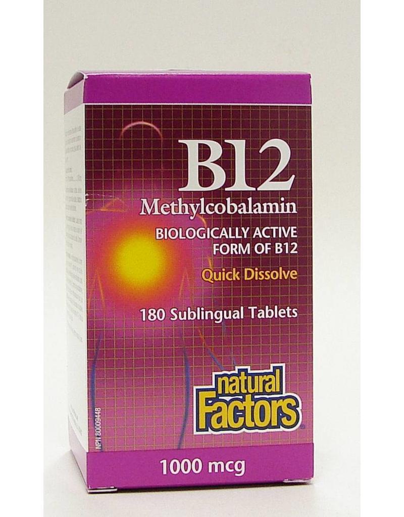 Natural Factors Natural Factors Sublingual B12 1000mcg  Tab 180
