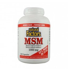 Natural Factors MSM 1000MG Bonus Cap 240