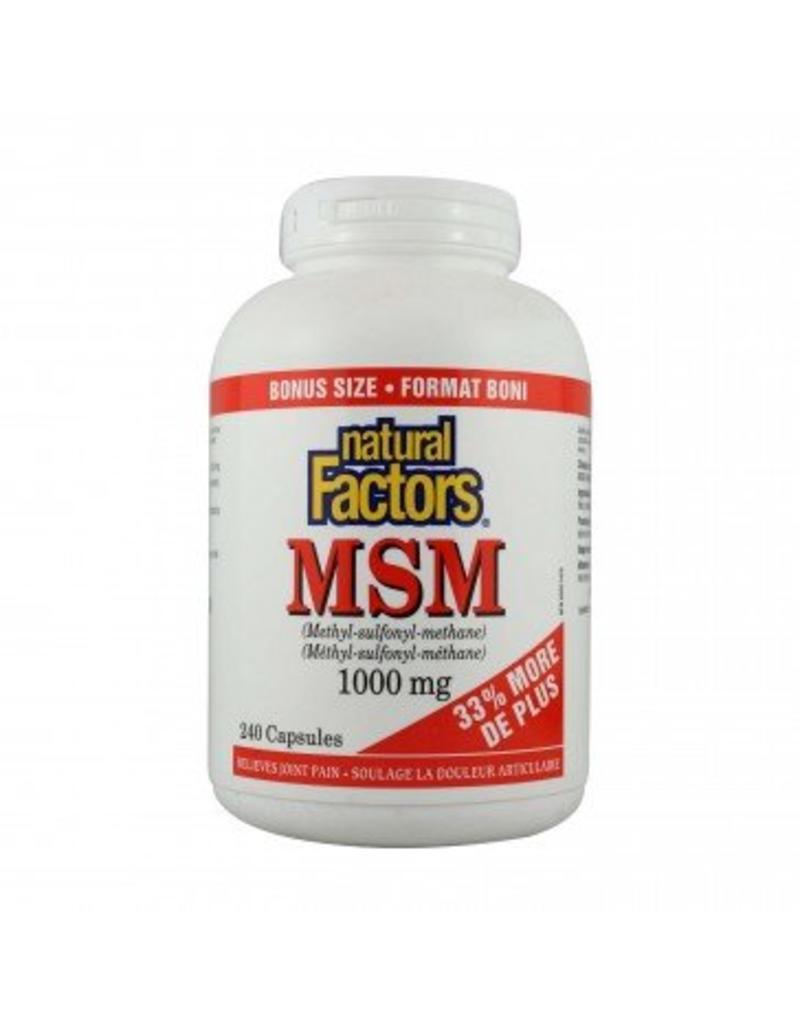 Natural Factors MSM 1000MG Bonus Cap 240