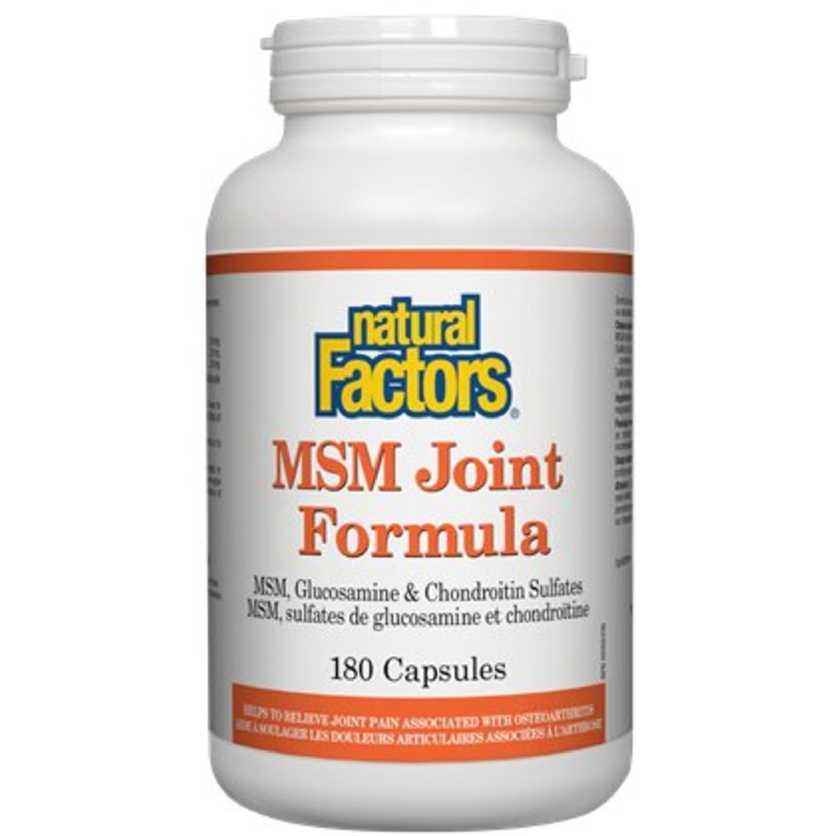 Natural Factors Natural Factors MSM Joint Formula Cap 180