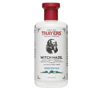 witch hazel a/f unscented with aloe 355 ml