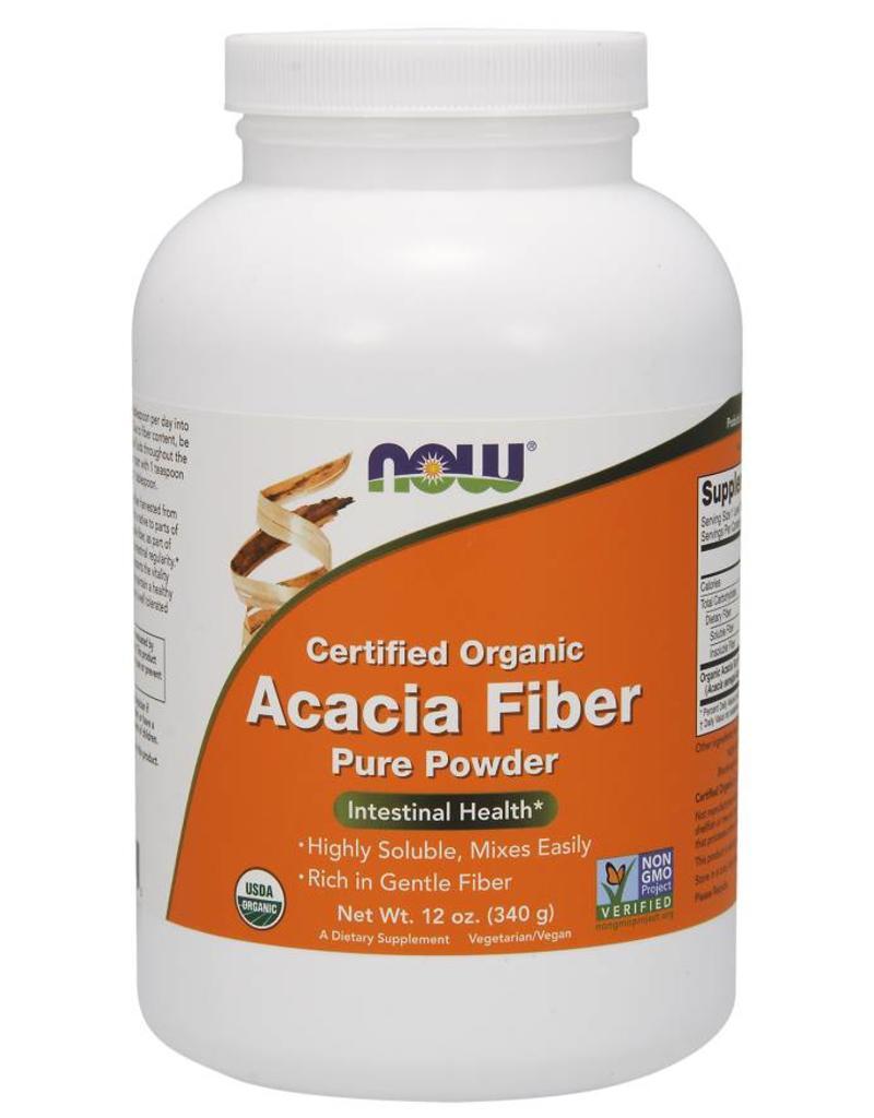 NOW NOW Organic Acacia Fibre 340g powder