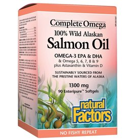 Natural Factors Natural Factors Wild Alaskan Salmon Oil 1300mg 90 softgels