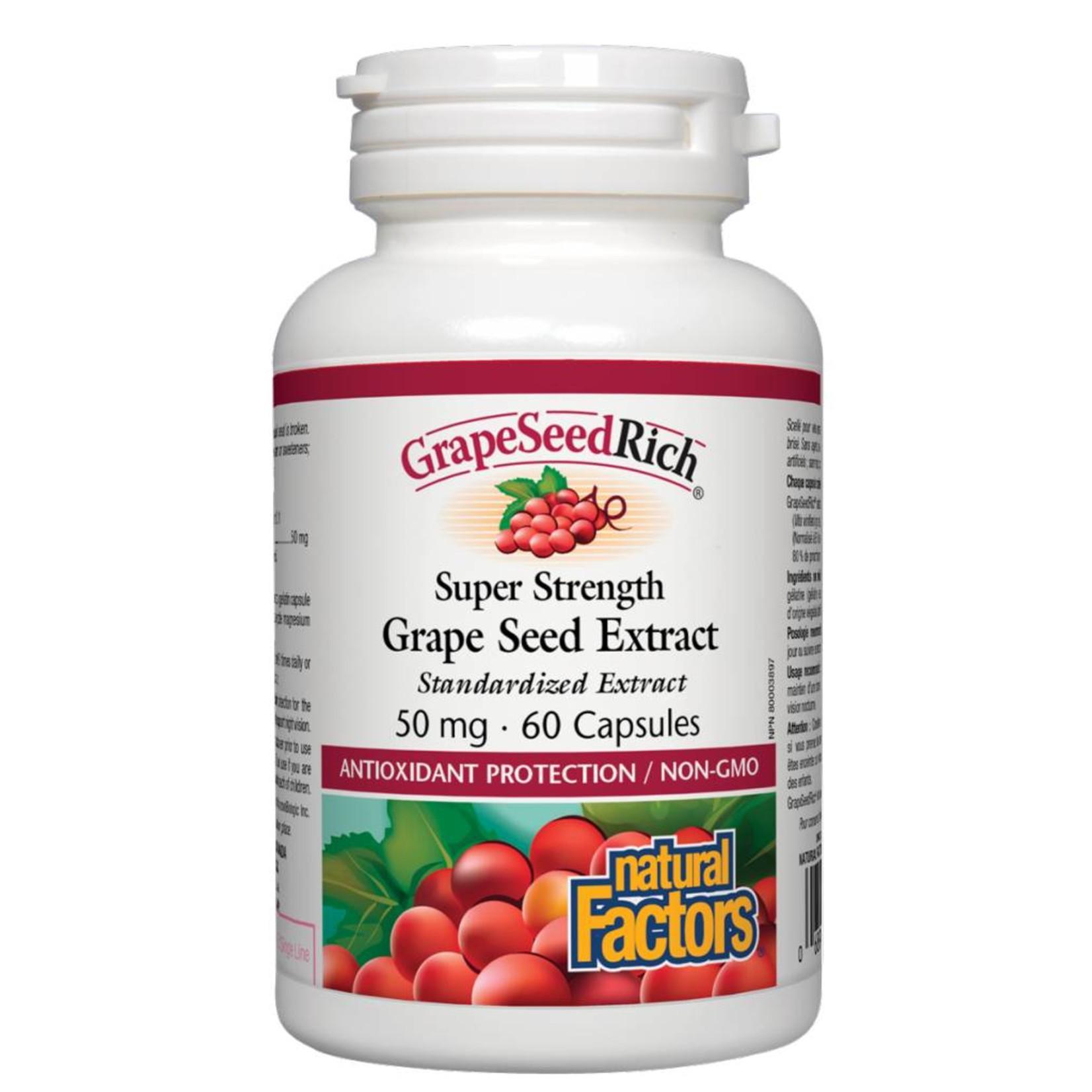 Natural Factors Natural Factors Super Strength Grape Seed Extract 50mg 60 caps
