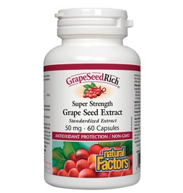 Natural Factors Natural Factors Super Strength Grape Seed Extract 50mg 60 caps