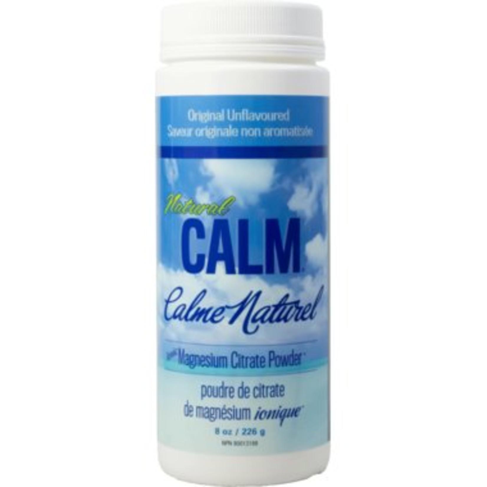 Natural Calm Magnesium Citrate Powder 8oz Unflavoured