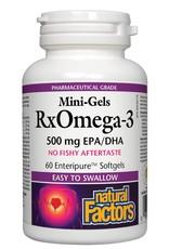 Natural Factors Rx Omega-3  500mg EPA/DHA 60 Mini Gels