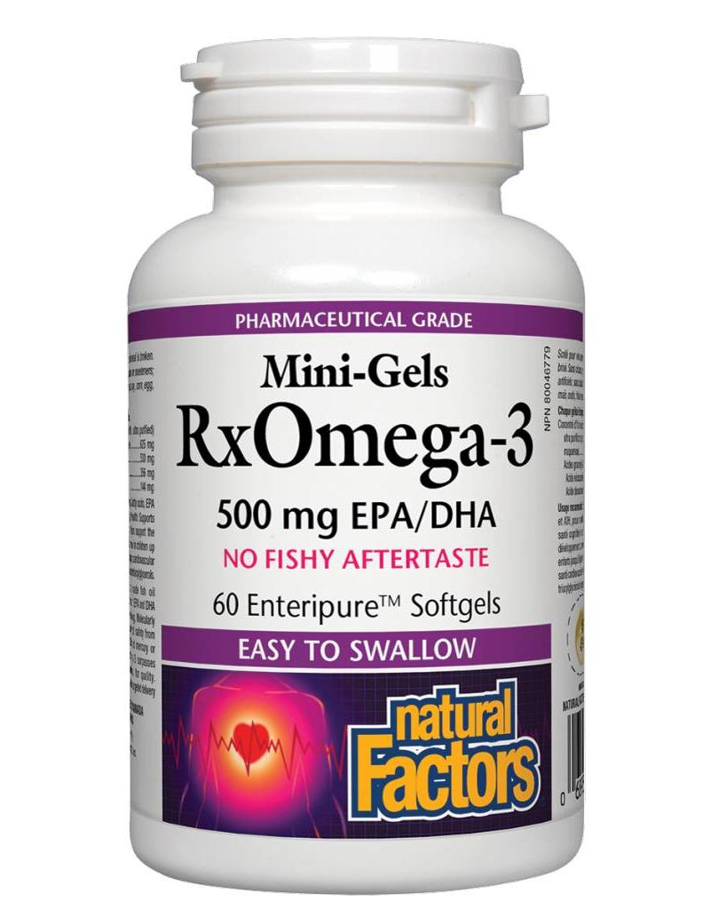 Natural Factors Natural Factors Rx Omega-3  500mg EPA/DHA 60 Mini Gels