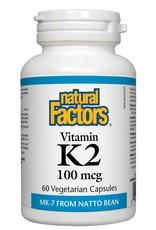 Natural Factors K2 100mcg 60 caps