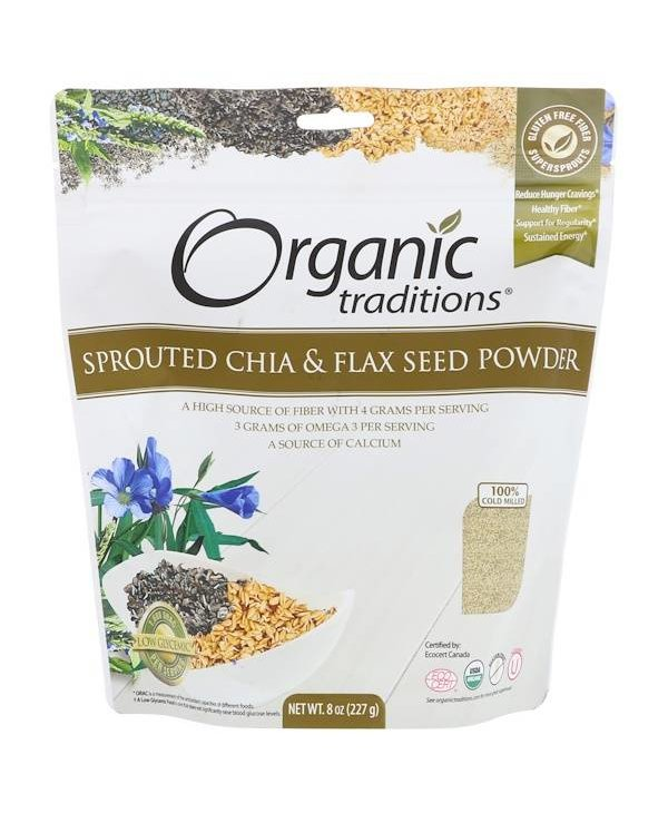 Sprouted Chia and Flaxseed Powder 8oz