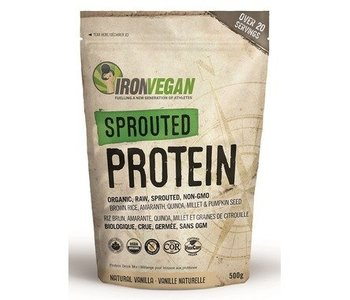Iron Vegan Sprouted Protein Vanilla 500g
