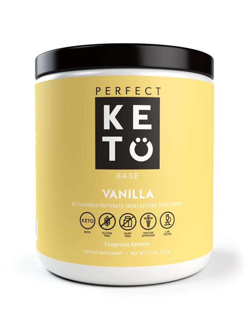 Perfect Keto Keto Base Exogenous Ketones Vanilla 233g
